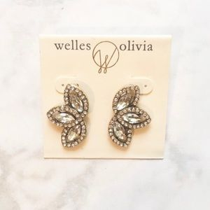 Olivia Welles- Dana Crystal Stud Earrings